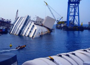 head-on boat crash