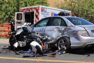 Motorcycle crash in San Mateo County